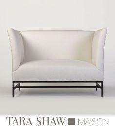 Tara Shaw Maison - Shelter Loveseat in Belgian Linen