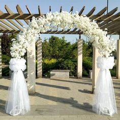 White colored Metallic ARCH for Wedding Party Bridal Prom Garden Floral Decor! Wedding Reception Entrance, Metal Wedding Arch, Wedding Table, Wedding Ceremony, Wedding Venues, Metal Arch, Ceremony Arch, Wedding Ideas, Wedding Sparklers