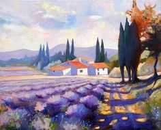 For Tuscany mural- lavender field by JJ Montegnies, but living and working in the U.S.  via Flickr