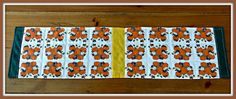 Linda Walsh Originals Dolls and Crafts Blog: My Babies In The Pumpkin Patch Skinny Custom Fabric Quilted Runner and Place-mats by Linda Walsh
