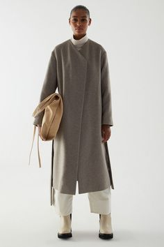 COS Wool Mix Belted Coat Wardrobe Fails, Tailored Coat, Silhouette, Belted Coat, Models, Minimal Fashion, Colorful Fashion, Who What Wear, Mantel