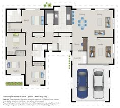 I like the media room is well away from the bedrooms. That there is an entrance… – Media Room İdeas 2020 Craftsman House Plans, Modern House Plans, Modern House Design, House Floor Plans, Small Media Rooms, Media Room Design, 4 Bedroom House Plans, English Country Decor, Cottage Plan