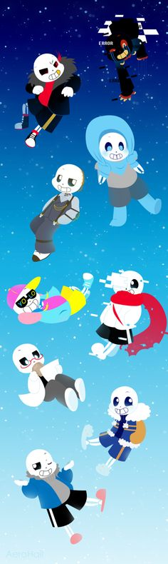 FA - AU Sans...es by Aer0Hail (I kept the original text to credit the artist) Cute!!!! Anyone agree?