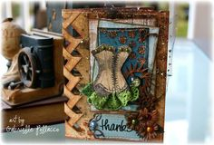 Layout: Braided Edge Card **Bo Bunny - Somewhere In Time**