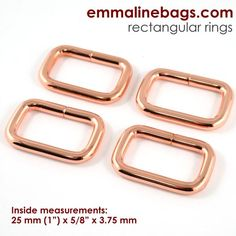 "1"" rectangular ring in copper"