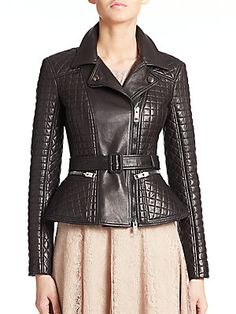 Burberry London Ledstone Quilted Leather Jacket