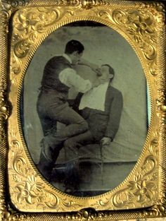 tintype, tooth extraction, note the bib Tooth Extraction Aftercare, Tooth Extraction Healing, Dental Surgery, Dental Implants, Dental Art, Dental Crowns, Old Advertisements, Wisdom Teeth, Vintage Pictures