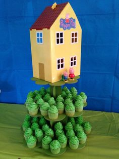Peppa Pig's house cake idea