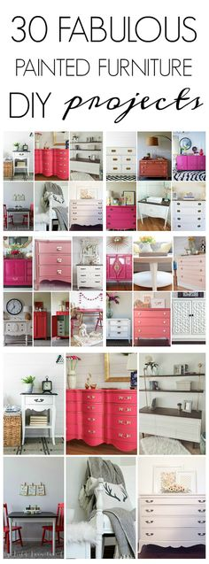 30 AMAZING Painted Furniture DIY Projects from some of the BEST DIY-ers!