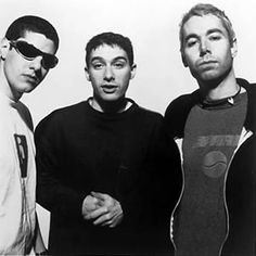 Beastie Boys, c. 1994 (the only known photograph in which Mike D and MCA are both very attractive and Ad-Rock looks hideous)