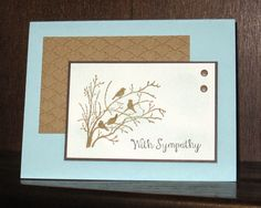 Using SU! stamps Summer Silhouettes and Bloom with Hope. Colors are Baked Brown Sugar, Pool Party and Very Vanilla | Snapdragon Stamps: Nachos: Sympathy Birds