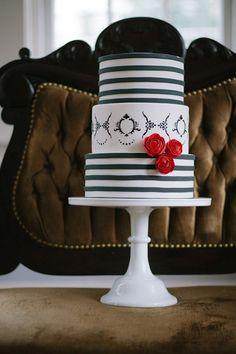 Black Stripes & Red Roses