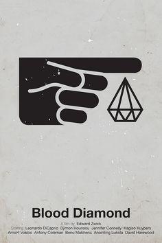 'Blood Diamond' pictogram movie poster  | por Viktor Hertz