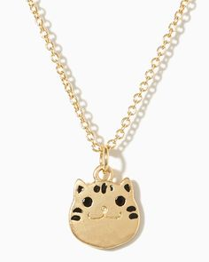 charming charlie | Happy Kitty Necklace | UPC: 410007216838 #charmingcharlie