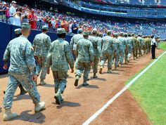 Paid-for patriotism. That's the term that angry federal lawmakers have given to the salute to troops ceremonies like this Georgia National Guard event at Turner Field in Atlanta. The House and Senate want an accounting and might cut Department of Defense funding because of the marketing program.