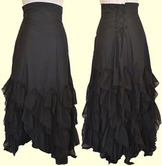 I would love to find or make a skirt like this, and then put another color like red or tan over it. #steampunk