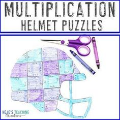 MULTIPLICATION Football Games | Sports Theme Supplement |  3rd, 4th, 5th grade, Basic Operations, Homeschool, Math, Mental Math Sports Theme Classroom, Special Education Classroom, Father's Day Activities, Classroom Activities, Cutting Practice, Math Facts, Multiplication, Fun Math, Math Centers