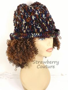 Crochet Hat Womens Hat Womens Crochet Hat Womens Fedora Hat High Sierra Hat ANDY Crochet Fedora Hat for Women by strawberrycouture by #strawberrycouture on #Etsy