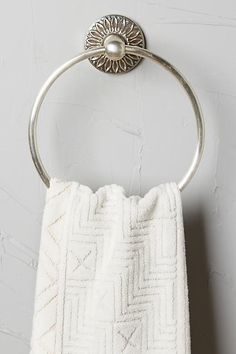 Floral Imprint Towel Ring - anthropologie.com