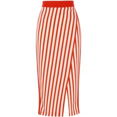 STRIPE JERSEY PENCIL SKIRT ($130) ❤ liked on Polyvore featuring skirts, stripe skirts, stripe pencil skirt, horizontal striped skirt, jersey pencil skirt and pencil skirt