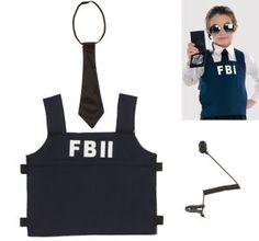 FBI Earpiece Costume | FBI Agent Kit for Children - Party City