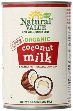 Natural Value Organic Lite Coconut Milk, 13.5 Ounce Cans (Pack of 12) -- Insider's special review that you can't miss. Read more :  : Dinner Ingredients