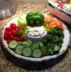 Octopus veggies for nautical or under the sea themed baby shower.