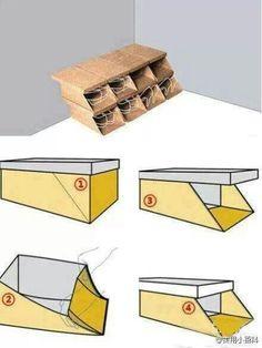 Repurpose your shoe boxes!