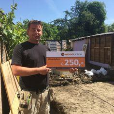Winnaar cheque 250,- te besteden bij woodonline.nl