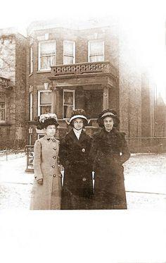 Ladies in snow. 6546 S Minerva, 1912