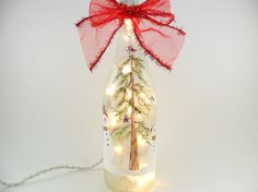 Snowman Lighted Wine Bottle Frosted Hand Painted 750ml