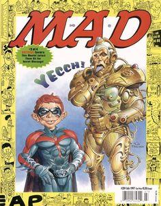 mad magazine in Books, Comics and Magazines Comic Book Covers, Comic Books, Alfred E Neuman, Mad Magazine, Magazine Covers, Mad World, Riddler, You Mad, Dark Knight
