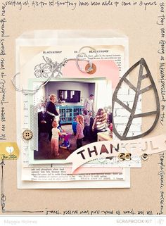 Ideas for using the Silhouette Cameo with the Studio Calico November Kits >> Maggie Holmes #scrapbooking #silhouette