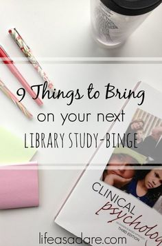 If you're in college, you're guaranteed to have a library study day. Nothing but you and your text books for 9 straight hours of binge-studying. Here are some great tips to make sure you stay productive and have fun doing it!