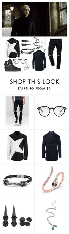 """""""This fag though"""" by anush-vardanyan ❤ liked on Polyvore featuring beauty, Noak, Ray-Ban, Versace, Paul Smith, David Yurman, Anne Sisteron, Warner Bros. and SWEAR"""