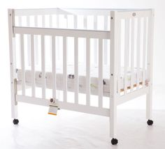 Baby-Cot-Sunbury-Compact-Cot-White-Kids-Wooden-Cot-Height-Adjustable