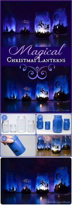 Magical Christmas Lanterns | diyfunidea.com