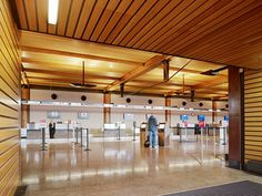 Jackson Hole Airport Renovation & Expansion Jackson Hole Airport, Airport Design, Grand Teton National Park, Building Design, The Expanse, Track Lighting, New Homes, Ceiling Lights, Architecture