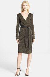 Diane von Furstenberg Long Sleeve Wrap Dress available at Nordstrom.