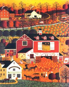 My Puzzles - Autumn Vintage & Modern - Autumn Farm 1985