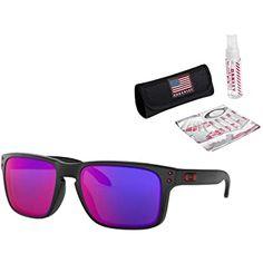 Oakley Sunglasses OFF!>> Oakley Holbrook Sunglasses (Matte Black Frame/Positive Red Iridium Lens) with USA Flag Lens Cleaning Kit Oakley Best Mens Sunglasses, Sports Sunglasses, Sunglasses Women, Holbrook Sunglasses, Oakley Holbrook, Polarized Sunglasses, Oakley Sunglasses, Oakley Eyewear