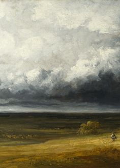 Georges Michel, Stormy Landscape with Ruins on a Plain, after 1830
