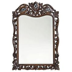 Traditional Framed Mirror In Brown 4085 At The