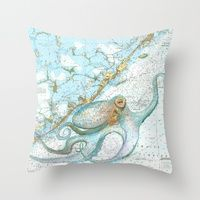 For my window seat... Throw Pillows by Carly Mejeur | Society6
