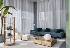 Sofas distinguished by elegant proportions, soft cushions and geometric lines are embellished by sophisticated construction detail. Sofas, Classic Theme, Night Table, Home Collections, Dining Area, Home Furnishings, Contemporary, Living Room, Interior Design