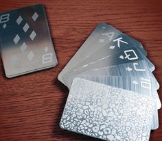 Playing Cards Made From Stainless Steel