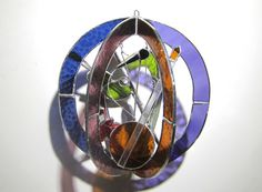 Gifts for him...... Crowd Around the Mic  Stained Glass 3D Sphere  by katiediditglass