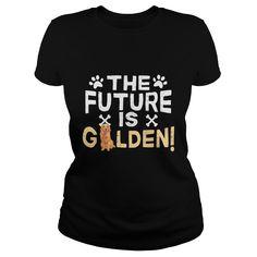 The Future Is Golden Retriever Dog TShirt - I love my golden retriever - Mens T-Shirt  #goldenretrievers #goldenretrievershirts #ilovegoldenretrievers # tshirts