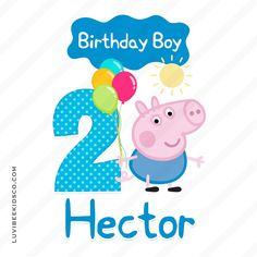 George Pig Iron On Birthday Shirt Transfer - Birthday Boy - LuvibeeKidsCo Peppa Pig Birthday Invitations, Peppa Pig Birthday Cake, Birthday Mug, Birthday Boy Shirts, Boy Birthday Parties, Birthday Cards, George Pig Party, George Pig Cake, Cumple George Pig