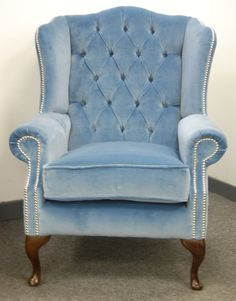 I Love Tufted Velvet Wingback Chairs. Especially Ones In Blue, Eggplant,  Sage,